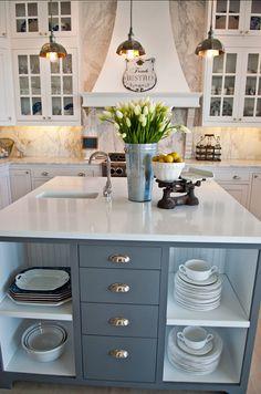 "Gray Kitchen Island Paint Color: ""Benjamin Moore Graphite  #Kitchen #Island #PaintColor"