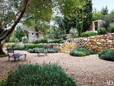 Architect Steven Harris and Interior Designer Lucien Rees Roberts Create an Idyllic Oasis in Croatia - Architectural Digest Dry Garden, Gravel Garden, Landscape Architecture, Landscape Design, Xeriscaping, Mediterranean Garden, Design Within Reach, Outdoor Living, Outdoor Decor