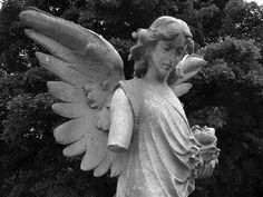 Angel in Sheffield's large City Road Cemetery