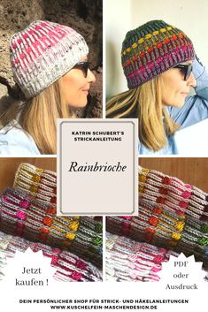 Knitting instructions Rainbrioche by Katrin Schubert Knitting instruction Rainbrioche by Katrin Schubert / Spring is in the air! It's time for a colorful project. Strickprojekte Knitting instructions Rainbrioche by Katrin Schubert Tricot Baby, Knit Crochet, Crochet Hats, Big Knit Blanket, Jumbo Yarn, Big Knits, Fair Isle Knitting, Knitted Headband, Kids Hats