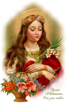 August 11 is also the Memorial of St Philomena (c Virgin and Martyr –… Catholic Art, Catholic Saints, Patron Saints, Roman Catholic, Religious Images, Religious Art, Catholic Wallpaper, Saint Philomena, Saint Feast Days
