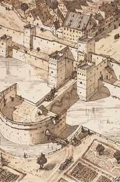 Das Neuhauser Tor im Spätmittelalter: So wurde es nach dem Sandtner'schen Modell rekonstruiert. Foto: Volk-Verlag
