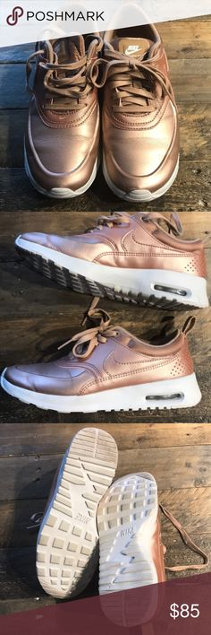 Nike Air Max Thea Rose Gold Like new, worn once.  No box. Nike Shoes Sneakers