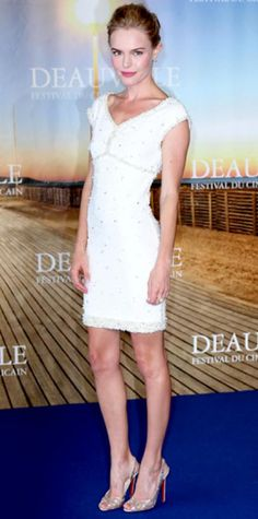 Look of the Day › September 6, 2011 WHAT SHE WORE Bosworth hit the red carpet for the Deauville American Film Festival premiere of Another Happy Day in an embellished Chanel LWD and silver Christian Louboutin peep-toes.