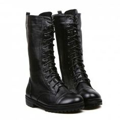 $19.56 Fashion Women's Combat Boots With Black and Lace-Up Design