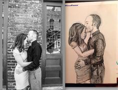 Example of a 9x12 Black and white pencil by InspiredArtInventory, $44.00