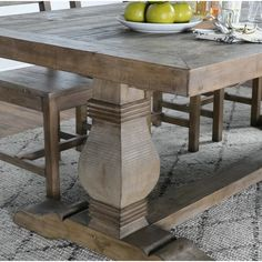 Dining Table - Furniture Buying And Dealing With Your Home Furnishings Trestle Dining Tables, Dinning Chairs, Extendable Dining Table, Dining Furniture, New Furniture, Table And Chairs, Farmhouse Dining Tables, Furniture Ideas, Furniture Cleaning
