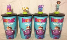 Home Movie Theater Exclusive Cup Topper Set With Cups