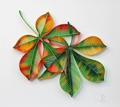 paper on white archival panel. 30 x 30 x 1 cm / 12 x 12 x in. Quilling Work, Origami And Quilling, Quilled Paper Art, Paper Quilling Designs, Quilling Paper Craft, Quilling Patterns, Paper Crafts, Quiling Paper, Paper Leaves