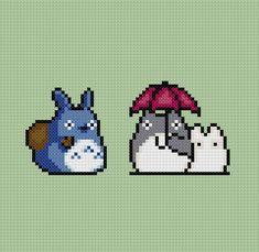 Totoro cross stitch pattern.