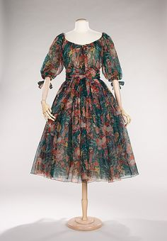 Cocktail dress House of Dior  (French, founded 1947) Designer: Yves Saint Laurent (French (born Algeria) Oran 1936–2008 Paris) Date: spring/...