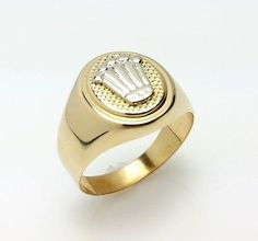 MEN'S 18K SOLID YELLOW GOLD CROWN RING #rolex #ring #crownring