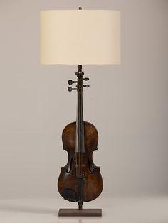 Vintage Violin, France c.1920, Mounted as Custom Lamp | | Carl Moore Antiques