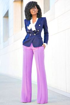 Clothing Styles For Women - Fashion Trends Suit Fashion, Look Fashion, Retro Fashion, Fashion Dresses, Fashion Pants, Classy Outfits, Stylish Outfits, Black Women Fashion, Womens Fashion