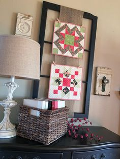 Carried Away Quilting: Decorating with Quilts. Such beautiful displays!