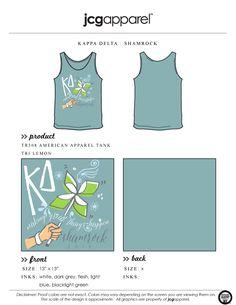 JCG Apparel : Custom Printed Apparel : Kappa Delta Shamrock Tank #kappadelta #kd…