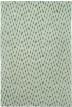 Inspired by the renowned network of trails along the rugged hills and sparsely developed areas of Los Angeles' renowned Griffith Park, this minimalist design is fashion-forward yet classic in its simplicity. Griffith Park is Thom Filicia's modern approach to the ages old chevron motif, and perhaps a nod to the classic zebra stripe. This abstract pattern is masterfully hand tufted of high quality New Zealand wool and viscose yarns.