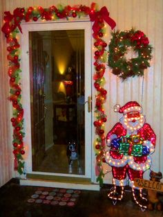 Check out these amazing Front Porch Christmas Decorating Ideas with outdoor lanterns, Christmas lights, holiday wreaths and garlands. So take your outdoor Christmas decorations to the next level with these amazing ideas! Christmas Porch, Christmas Is Coming, Christmas Lights, Christmas Holidays, Christmas Crafts, Christmas Stuff, Christmas Decorations Clearance, Outdoor Christmas Decorations, Holiday Decor