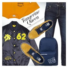 """Untitled #4136"" by svijetlana ❤ liked on Polyvore featuring DC Shoes, Hero's Heroine, orangeoutfit and popsoforange"