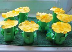 Tvoření s dětmi - Rozkvetlá louka z ruliček od toaletního ...