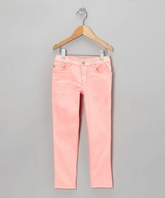 Look what I found on #zulily! Coral Straight-Leg Jeans - Girls by Longstreet #zulilyfinds