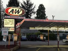 A&W Root Beer Drive Ins . . .loved ordering the baby burger and drinking root beer thru the root bear straw : )