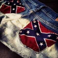 England flag Jean shorts