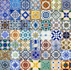 portuguese tiles... love the tones