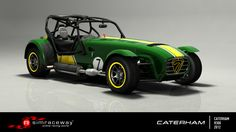 In comparison to the little Caterham's Roadsport cousins, Superlights treat comfort as a secondary consideration, with no roof or windscreen offered as standard. However this feather-light, rock-hard racer makes up for it with an ultra-involving chassis that immediately puts its lucky driver at the very core of the driving experience.    To get to the very heart of what driving is all about, get the Caterham Superlight R300 today on Simraceway.