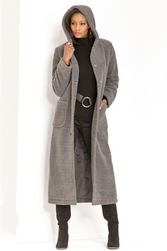 c55e651a640 Hooded Berber Fleece Coat  Unique   Bold Women s Clothing from  metrostyle   54.99 -  89.99