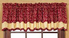"Royalton Lined Layered Scalloped Curtain Valance 72"" x 16"""