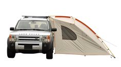 Kelty Carport Deluxe Basecamp Shelter - http://DesireThis.com/1224 - Camp out in comfort with the Texsport Lodge Square Dome SUV tent. With a unique design that allows it to stand alone or attach easily to the back of most sport utility vehicles, the tent offers plenty of living space and storage space for convenient and easy camping.
