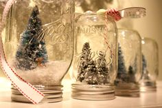 gorgeous DIY mason jar snow globes
