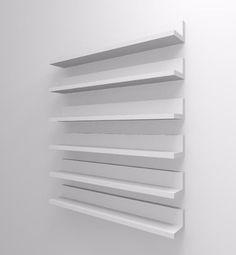 1 prateleira esmalte p/ salão de beleza 45cm mdf branco