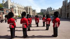 The Changing the Guard Ceremony, the Lower Ward, Windsor Castle