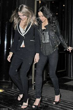 Romance: Michelle and Cara, 22, dated for several months before splitting in May last year...