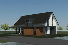 Nieuwbouwwoning | Aalsmeer - Ontwerp van AL architecten voor een nieuw te bouwen vrijstaande woningaan de Machineweg in Aalsmeer.