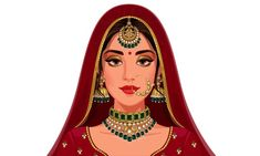 Bride Cartoon, Wedding Couple Cartoon, Hijab Cartoon, Indian Illustration, Fashion Illustration Sketches, Wedding Illustration, Illustrations, Beautiful Indian Brides, Girly Drawings