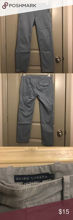 Ralph Lauren Greyish Blue Khaki Pants Perfect condition. Worn once. 26inch inseam. Ralph Lauren Pants Boot Cut & Flare