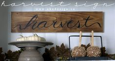harvest sign title Harvest Sign | Project