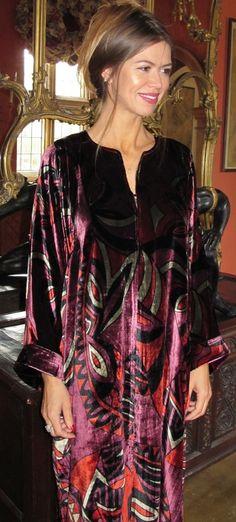 9c29c8a009 Cosima. Cosima Long Silk Velvet Kaftan Tuttabankem