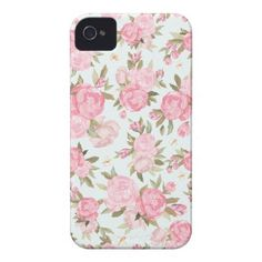 """""""Floral Vintage Case Case-mate Iphone 4 Case: A floral pattern with light pink background and lovely vintage flowers in shades of wonderful pink. Iphone 7 Plus, Iphone 8, Cases Iphone 6, Girly Phone Cases, Floral Iphone Case, Coque Iphone, 4s Cases, Pink Iphone, Apple Iphone"""