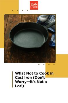The list of what not to cook in cast iron is much, much shorter than the things you should—we promise. Bubble Bread, Halibut Recipes, Chicken Cacciatore, Veggie Pasta, Pineapple Upside Down, Spanish Rice, Cast Iron Skillet, Deep Dish, It Cast