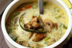 Čorba od povrća i šampinjona   Na tanjiru