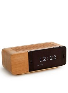 iPhone holder // just like an analogue bedside alarm clock