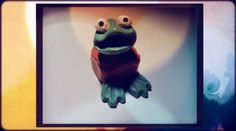 Big Frog appears and tries to eat Little Ghost. The little thing is very scared!