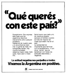 """Argentina en positivo""- 1976"