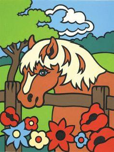"Mini Paint By Number Kit 4-1/2""""X7""""-Pony"