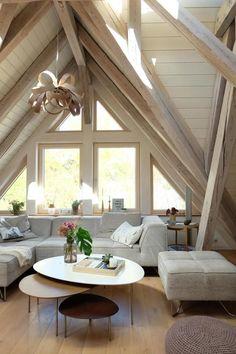 Unser Gemütlicher Wohnbereich Mit Viel Holz #Dachges.