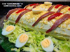 Rollo de patata relleno de atún: un pastel salado muy original ☂ᙓᖇᗴᔕᗩ ᖇᙓᔕ☂ᙓᘐᘎᓮ… Potato Recipes, Meat Recipes, Mexican Food Recipes, Healthy Recipes, Ethnic Recipes, Appetizer Sandwiches, Appetizers, Party Food Dishes, Tapas